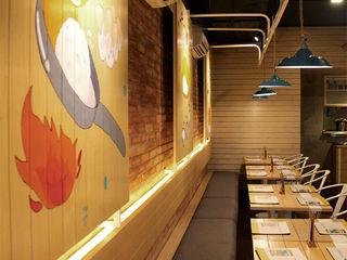 Sunny Side Up IDEO DESIGNWORK Dinding & Lantai Gaya Rustic