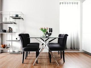 Boutique Hotel Apartment Katie Malik Interiors Modern dining room Black