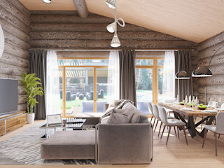 needsomespace Minimalist dining room Wood Brown