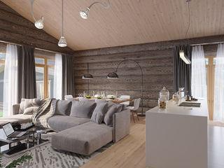 needsomespace Minimalist living room Wood Grey