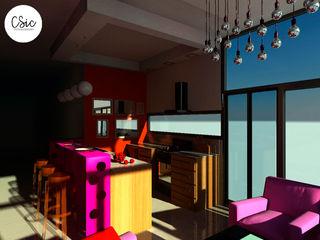 Proyecto PH Estilo Arte Pop C-Sic Interiorismo Cocinas eclécticas