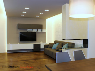 """Progetto architettonico e interior design villa """"Angel"""" Abita design srl / Paolo Vindigni Soggiorno moderno"""