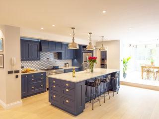 Kensington Blue Kitchen Tim Wood Limited Built-in kitchens