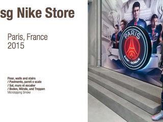 Suelos MICROTOPPING® - Tiendas Nike Fermox Solutions Oficinas y tiendas de estilo moderno