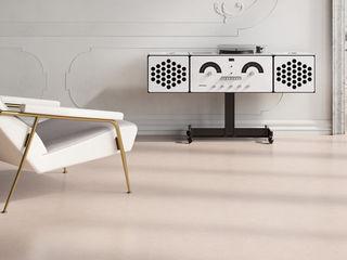 Suelos LIXIO® - Micro Terrazzo Veneciano Fermox Solutions Salas multimedia de estilo clásico