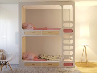MIA arquitetos Спальня для дівчаток ДСП Білий