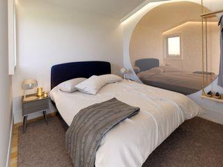 MIA arquitetos Small bedroom MDF Синій