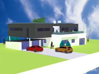 Komplettumbau & Modernisierung eines EFH | Projekt ST a r c h i t e k t u r b ü r o grimm Moderne Häuser