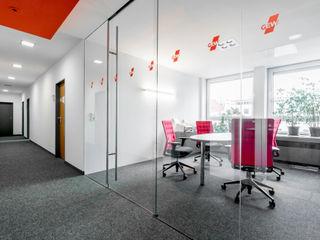 Ohlde Interior Design Офісні будівлі Скло Білий