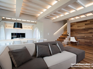 Rachele Biancalani Studio Salones de estilo minimalista Beige