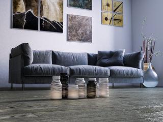 mcp-render Sala de estarSofás e divãs Azul