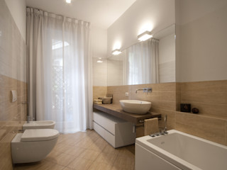 Chantal Forzatti architetto Modern Bathroom Ceramic Beige