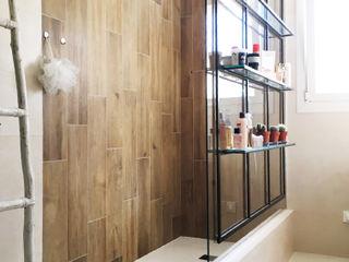 Renovation salle de douche - saint raphael B.Inside Salle de bain industrielle Bois Beige