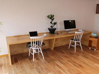 Order Furniture アップル突板テーブル&デスク 85inc. オフィススペース&店 木 木目調