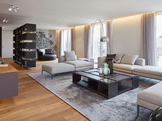 innenarchitektur-rathke Modern Living Room Wood Grey