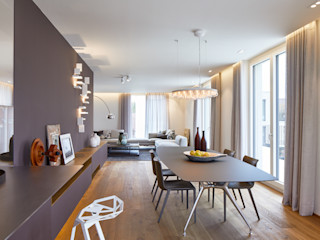 innenarchitektur-rathke Modern Dining Room Wood Grey