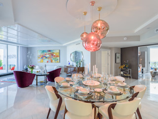 NIVEL TRES ARQUITECTURA Modern dining room Marble White