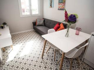 Grupo Inventia Modern living room Concrete Beige