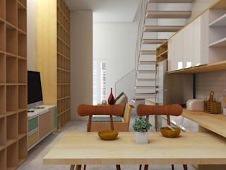 SEKALA Studio Tropical style houses Bricks Wood effect