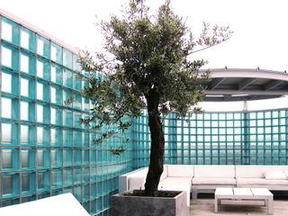 Archipelontwerpers Balcon, Veranda & Terrasse industriels Verre