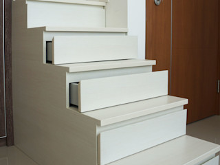 KOMA living interior design BedroomBeds & headboards Gỗ White