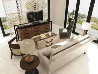 American modern residence Kottagaris interior design consultant Ruang Keluarga Gaya Kolonial