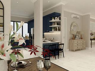 American modern residence Kottagaris interior design consultant Koridor & Tangga Gaya Kolonial
