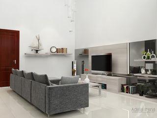 Araya, Malang PEKA INTERIOR Ruang Keluarga Modern Kaca Grey