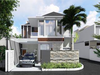 Idealook Casas de estilo moderno Hormigón Gris