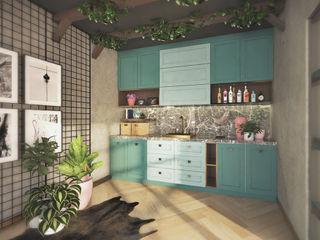 Veon Interior Studio Kitchen Wood Green