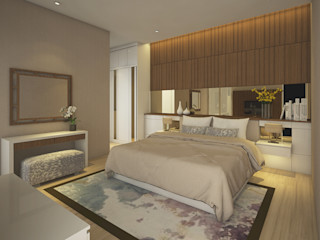 Veon Interior Studio Modern style bedroom Wood Wood effect