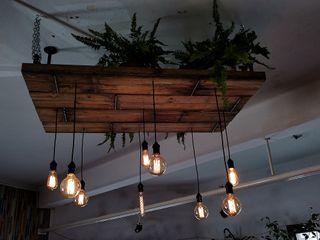 Iluminacion Estilo Industrial Vintage Deco Bar Lamparas Vintage Vieja Eddie Oficinas y locales comerciales Madera Marrón