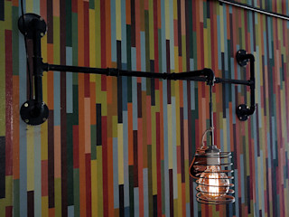 Iluminacion Estilo Industrial Vintage Deco Bar Lamparas Vintage Vieja Eddie Paredes y pisosDecoración de paredes Hierro/Acero Negro
