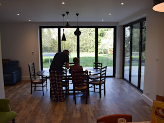 Garden room - Oxfordshire Jump Architects Ltd Modern dining room