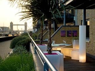 ROOF GARDEN IN WAPPING EAST LONDON Earth Designs Vườn phong cách hiện đại