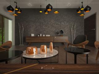 Visualización 3D Media room Wood Wood effect