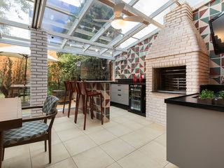Maluf & Ferraz interiores Modern Terrace Green