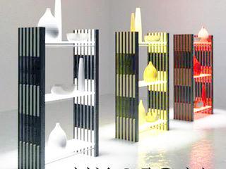 Architekturbüro Michael Bidner Living roomShelves Kayu Multicolored