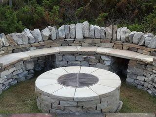 Highlands firepit Lithic Fire Сад Піщаник