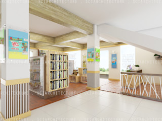 SCIArchitecture Офіси та магазини Фанера Дерев'яні