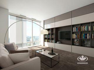 Komandor - Wnętrza z charakterem Living roomShelves Glass Beige