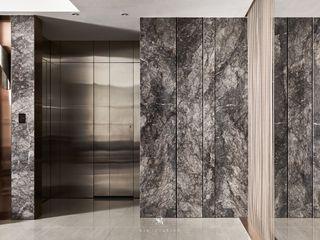 璀璨.脈脈 Van der Vein 理絲室內設計有限公司 Ris Interior Design Co., Ltd. 窗戶與門門 Metallic/Silver