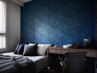 璀璨.脈脈 Van der Vein 理絲室內設計有限公司 Ris Interior Design Co., Ltd. 臥室 Blue