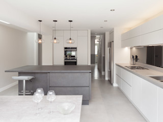 Clapham Old Town, Lambeth Proctor & Co. Architecture Ltd Built-in kitchens