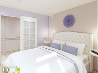 Мастерская интерьера Юлии Шевелевой Classic style bedroom