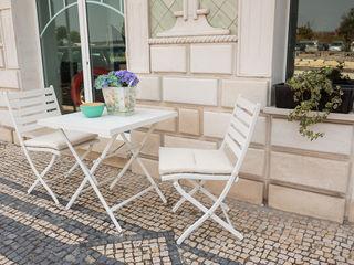 STREIGHTEX Varanda, alpendre e terraçoMobiliário Plástico Branco