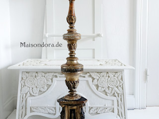 Maisondora Vintage Living WoonkamerVerlichting Hout Amber / Goud