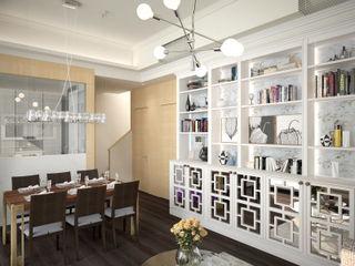 The Hudson 浚峯 | Kennedy Town 堅尼地城 Nelson W Design Salas de estilo clásico Blanco