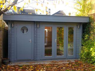Garden Room with integral store room Garden Affairs Ltd Modern garage/shed Wood Grey