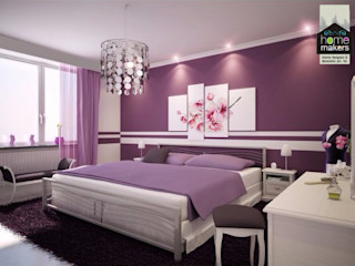 Purple Girlish Bedroom homify Modern Bedroom Purple/Violet